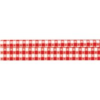 """Red Gingham Plastic Tablecloth Roll, 40"""" x 300ft"""