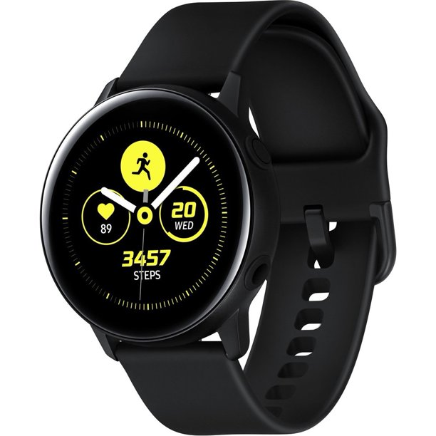SAMSUNG Galaxy Watch Active - Bluetooth Smart Watch (40mm) Black - SM-R500NZKAXAR