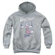 Popeye Hangin Tough Big Boys Pullover Hoodie