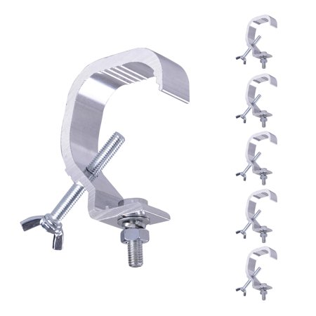 Stage Lighting Clamps - 6pcs 44lbs Small Stage Light Hook Aluminum Alloy Clamp Mount Par LED Moving Head