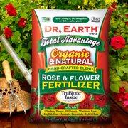 Dr. Earth Organic & Natural Total Advantage Rose & Flower Fertilizer 4-6-2, 12lb