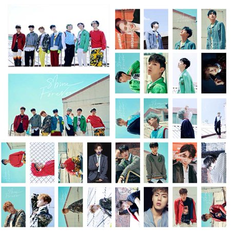 Fancyleo Kpop MONSTA X Photo Postcard Lomo Cards Set Gift for Fans