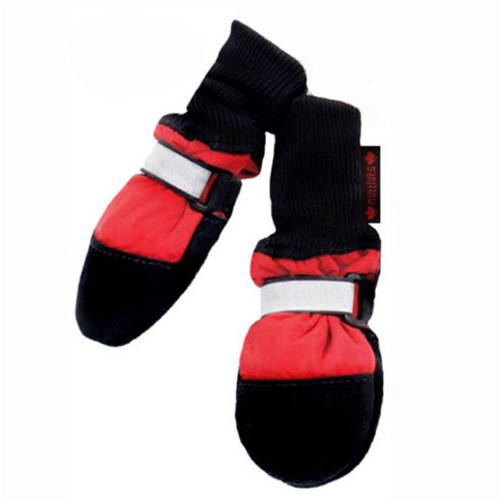 """000312 Fleece Lined Muttluks Dog Boots, Set of 4, Red, Itty Bitty up to 1.5"""""""