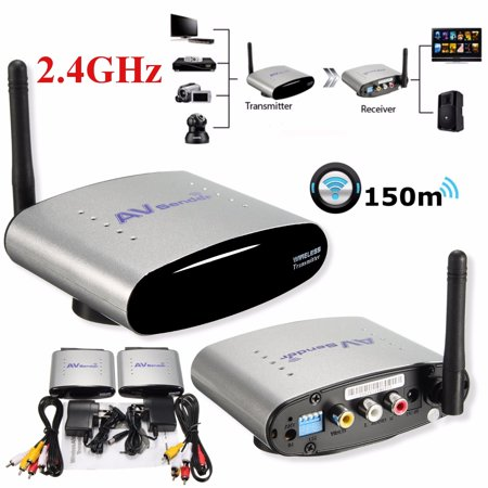 - 2.4Ghz 150m Wireless AV Sender TV STB Audio Video Transmitter Receiver PAT-330