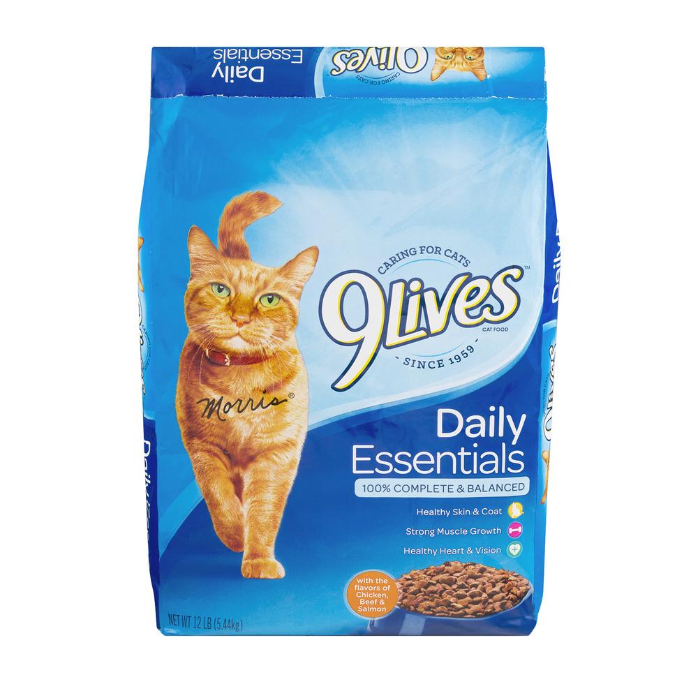 9Lives Daily Essentials Dry Cat Food, 12 lb Bag by Big Heart Pet Brands