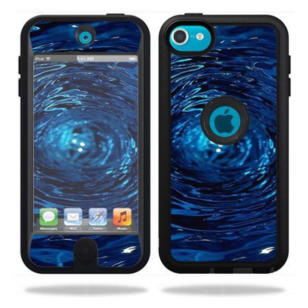 Mightyskins Protective Vinyl Skin Decal Cover for OtterBox Defender Apple iPod Touch 5G 5th Generation Case Blue (Ipod Touch 5th Generation Otterbox Defender Drop Test)
