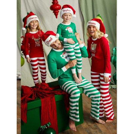 SWEETLIFE Christmas Family Matching Pajamas Sleepwear Set for Mom Dad Kids (Christmas Clothing For Children)