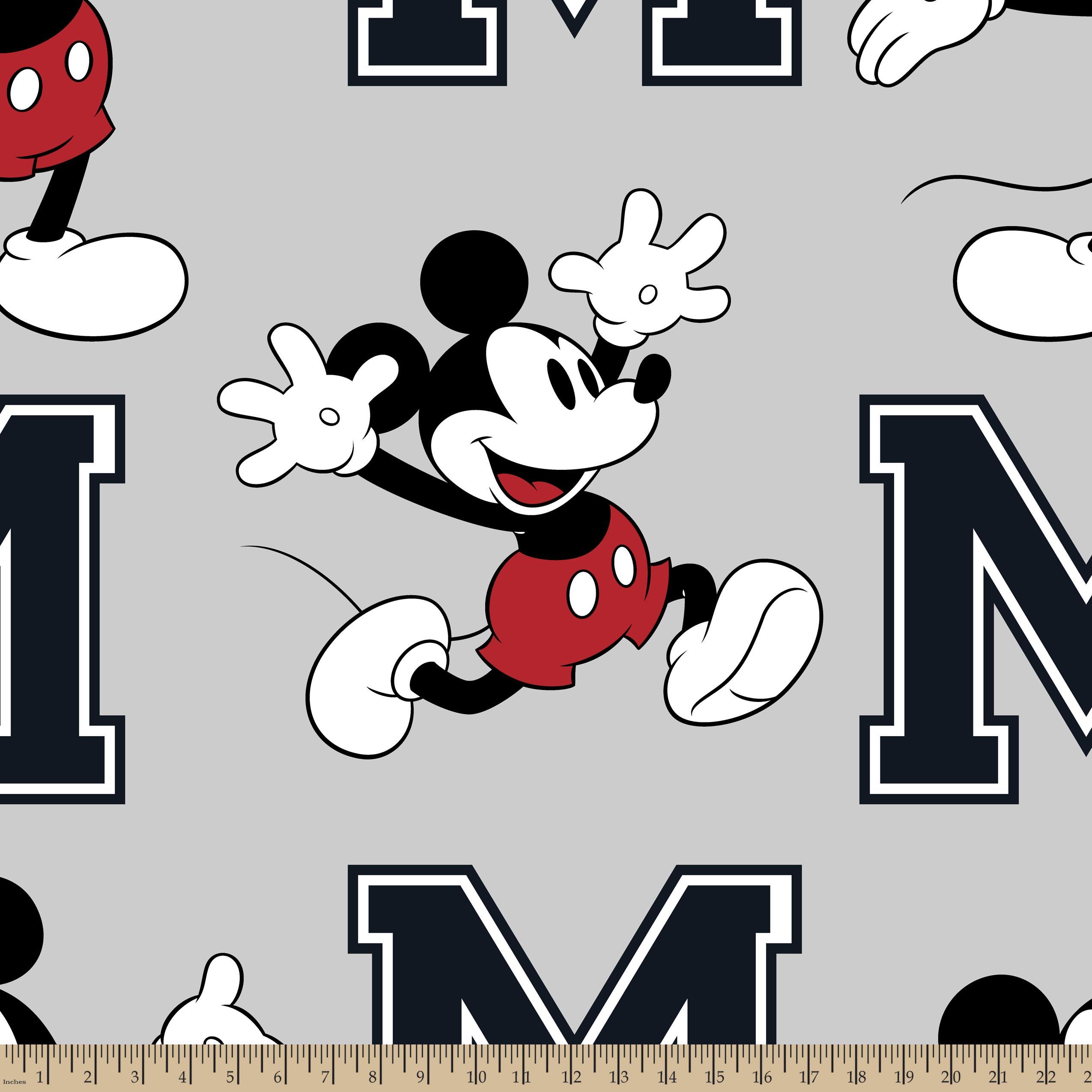 Disney Mickey Toss Fleece Fabric by the Yard