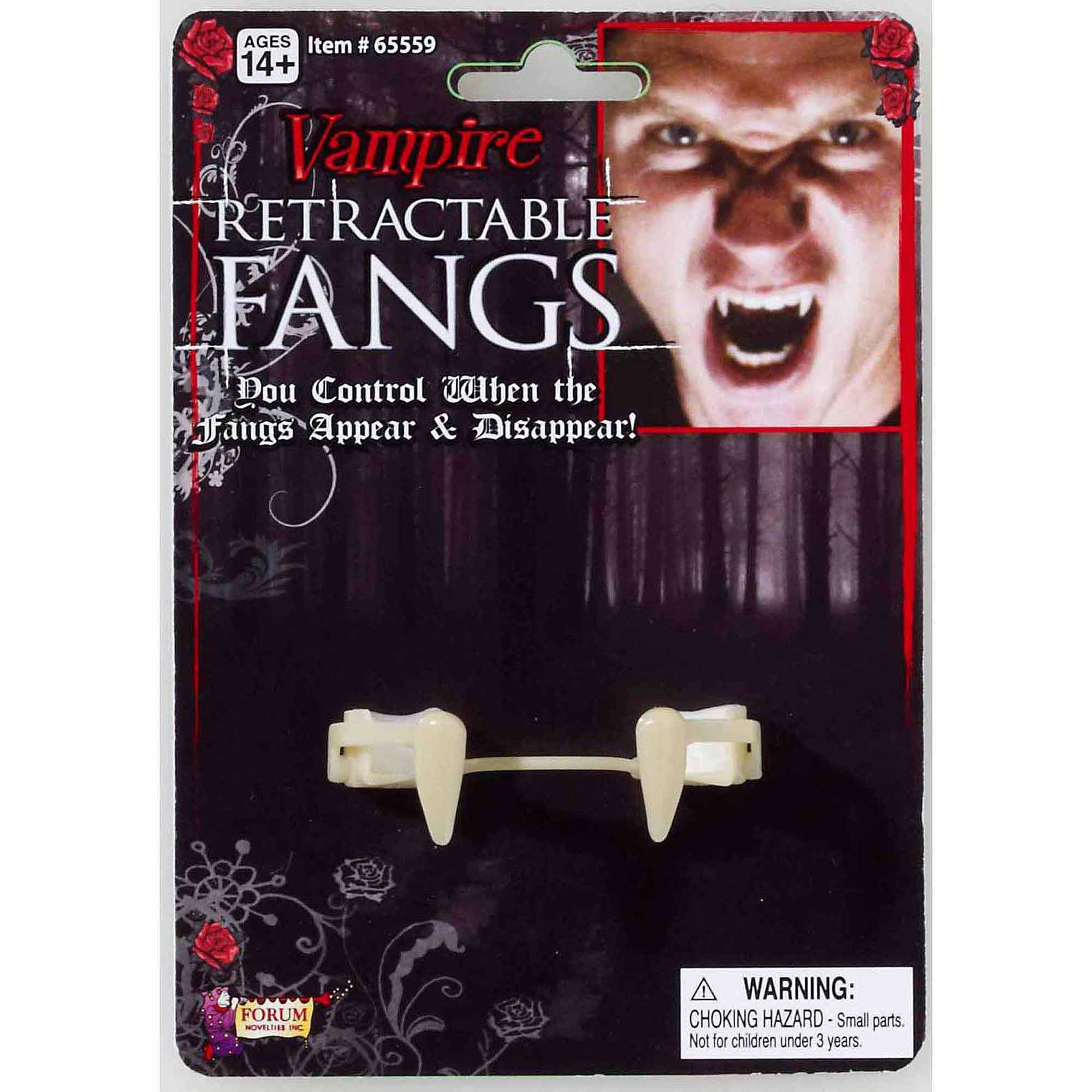 Retractable Vampire Fangs Adult Halloween Costume Accessory
