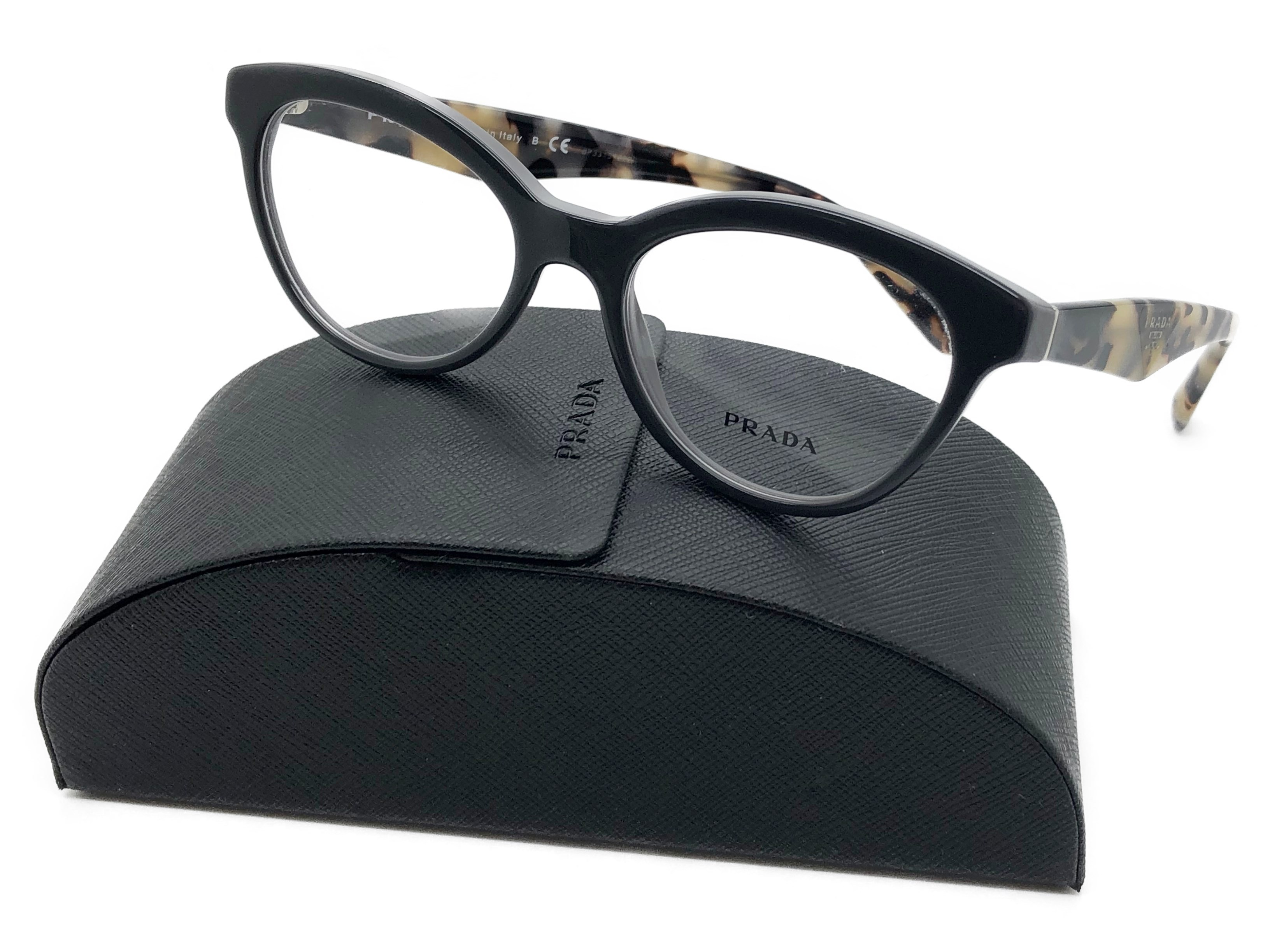 82b1c4d1205d Authentic PRADA Eyeglasses Frames VPR 11R TFN-101 Black/Gray 50/17 -  Walmart.com
