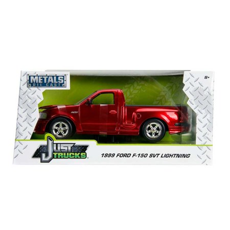 Just Truck Series 1999 Ford F 150 Svt Lightning Red W Black Stripes 124 Scale