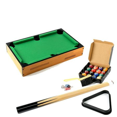ktaxon 18 wooden mini pool table billard table with cues and set pool balls plastic triangle. Black Bedroom Furniture Sets. Home Design Ideas