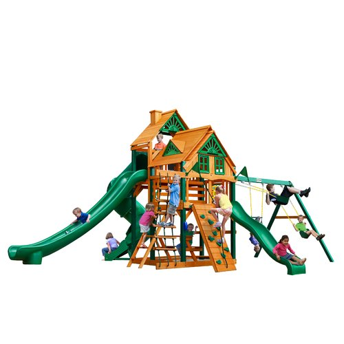 Gorilla Playsets Great Skye II Treehouse Swing Set by Gorilla Playsets