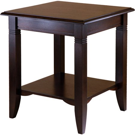 - Winsome Wood Nolan End Table, Cappuccino Finish