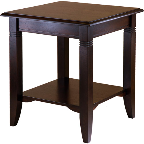 Winsome Wood Nolan End Table, Cappuccino Finish