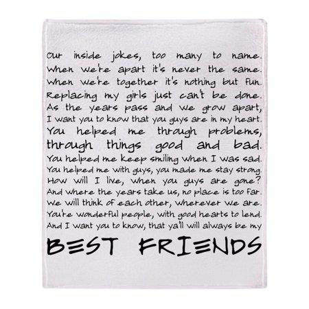 CafePress - Best Friends - Soft Fleece Throw Blanket, 50
