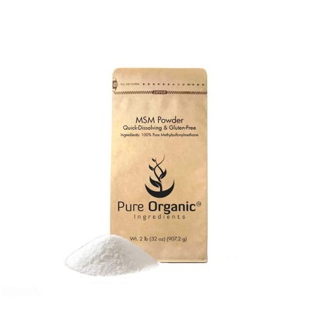 Pure Organic Ingredients Methylsulfonylmethane MSM Powder, 100% Pure and May Increase Joint & Connective Tissue Health, Respiratory & Digestive System Support 2 lb