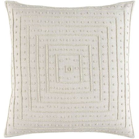 Gisele Gray 22 Inch Pillow Cover