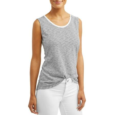 Women's Sleeveless Side Shirred Tank Top