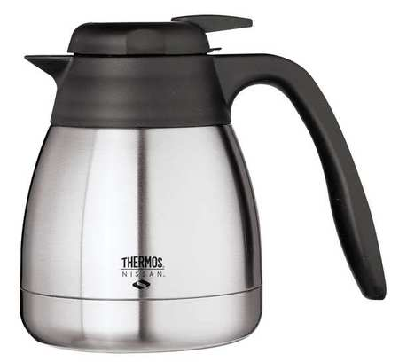 THERMOS TGS06SC Vacuum Insulated Carafe,Lever Lid,20 oz