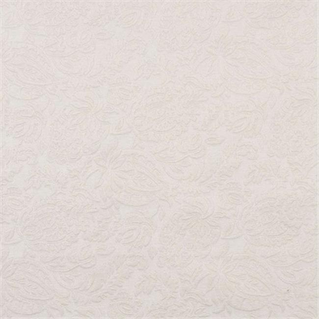 Designer Fabrics E562 54 in. Wide Off White, Floral Jacquard Woven Upholstery Grade Fabric