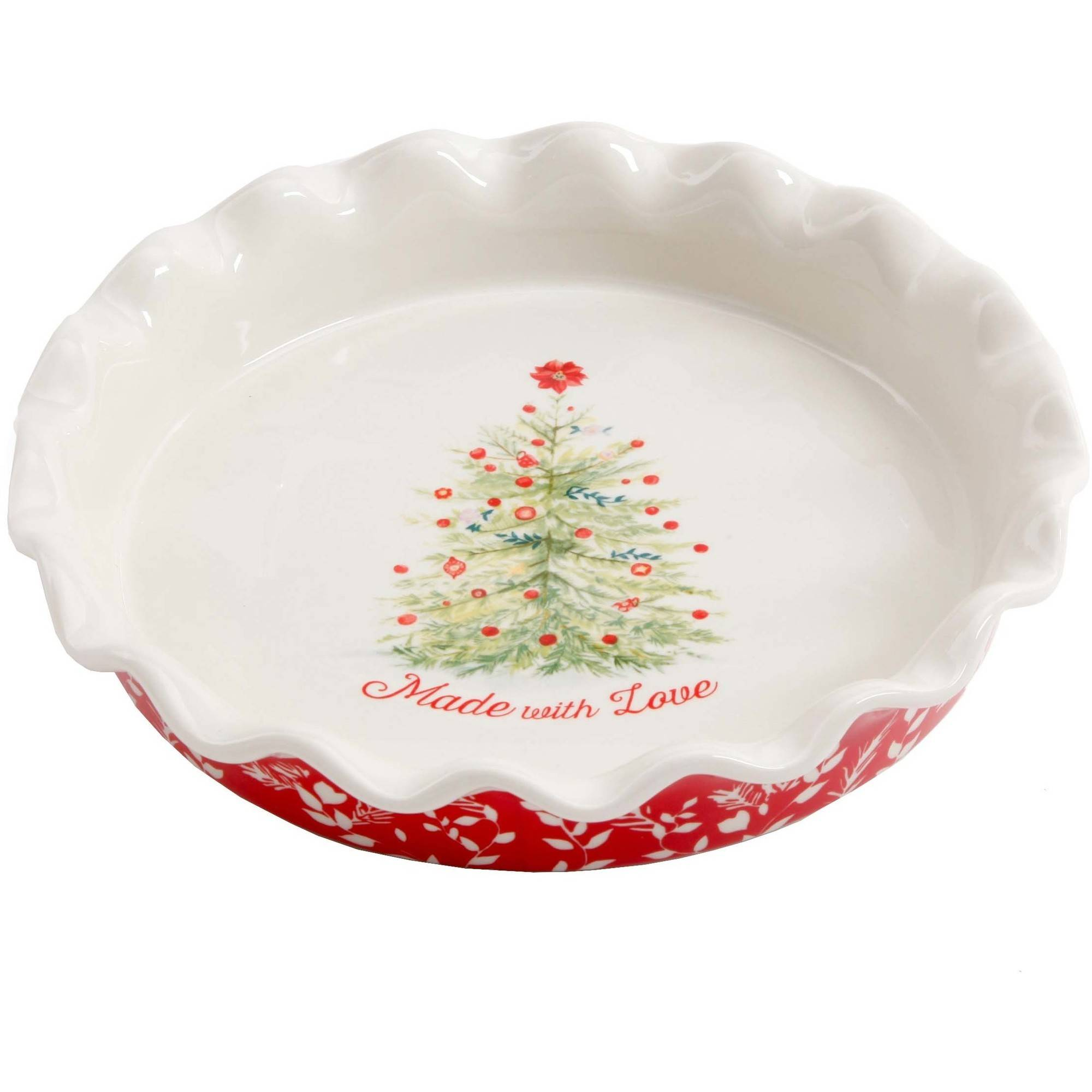 "The Pioneer Woman Holiday Cheer 9"" Ruffle-Top Pie Plate"