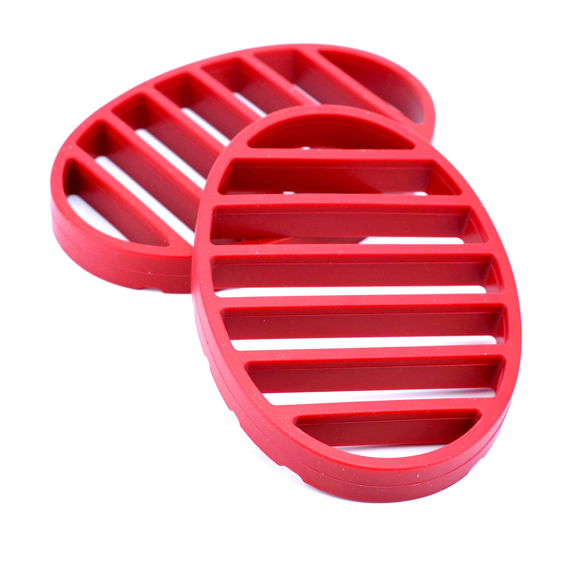 Roasting Rack, Nonstick Silicone Oval Roasting Rack For Turkey Red (Pack Of 2) by Norpro Kitchenware