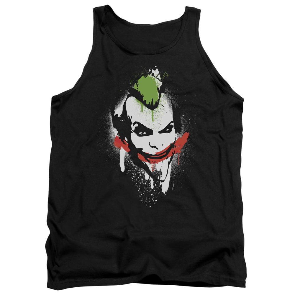Batman Arkham City Spraypaint Smile Mens Tank Top Shirt by Trevco