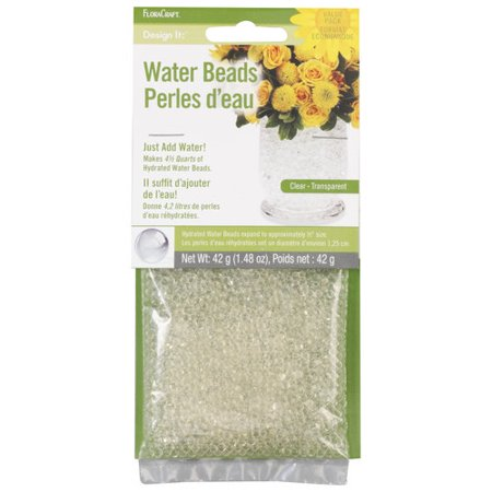 FloraCraft Design It Dehydrated Clear Water Beads, 1 Each - Floral Water Beads