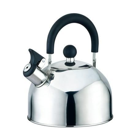 Enamelware Tea Kettle - Kitchen Sense Stainless Steel Whistling Tea Kettle 2.5 Liter