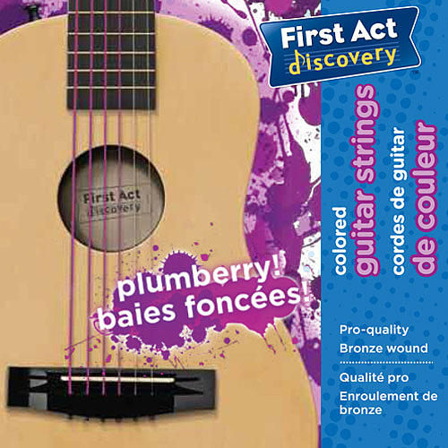 First Act Discovery Guitar Strings - Plumberry
