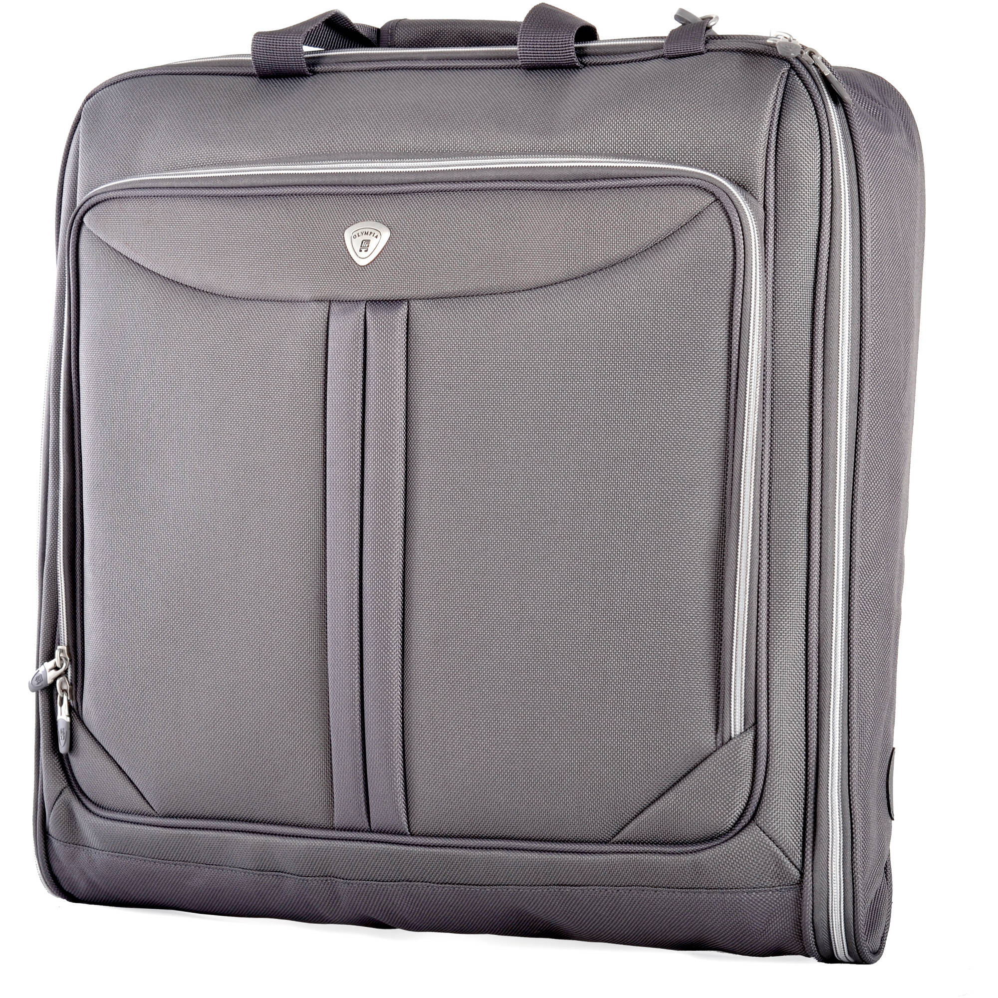 L leather travel u0026 garment bag natural code click 4 for Wedding dress garment bag for air travel