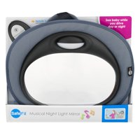 Safe Fit Musical Night Light Mirror, Baby Car Mirror