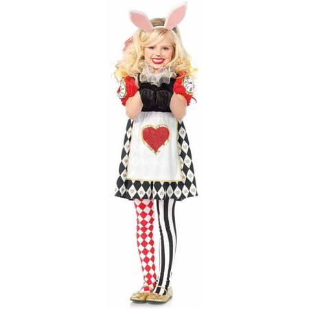 Leg Avenue 3PC. wonderland Rabbit,apron dress,ruffle neck Piece,ears](Wonderland 2017 Halloween)