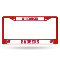 Wisconsin Badgers Red License Plate Frame