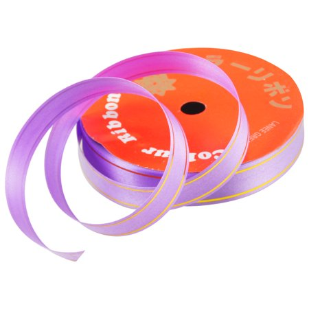 Magnetic Ribbon Strips - Unique Bargains Unique Bargains Purple Gold Tone Two Strips Gift Package Ribbon Roll Tape