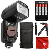 Opteka IF-980 E-TTL AF Dedicated Flash w/ Bounce, Zoom, Tilt, LCD Display for Nikon D7500 D7200 D7100 D5600 D5500 D5300 D5200 D3400 D3300 D3200 D3100 D750 D610 D600 D500 D90 D80 D70 D60 DSLR Cameras