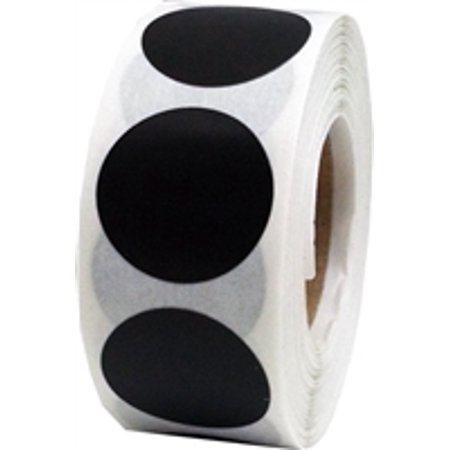 Purple Flowers Sticker - Black Circle Dot Stickers, 0.75 Inch Round, 500 Labels on a Roll