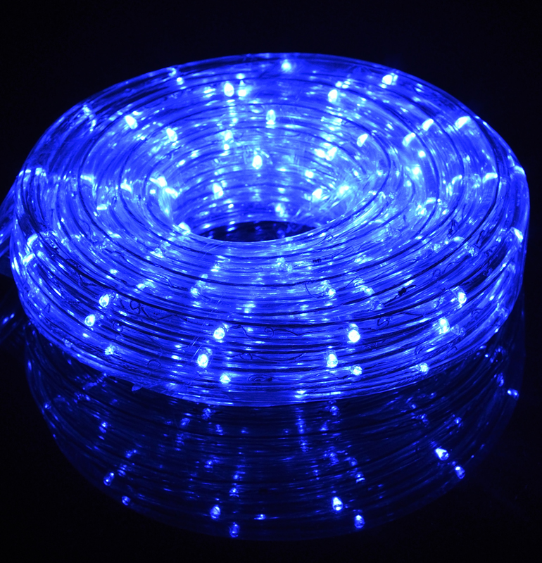 Fantado Blue Outdoor Led Fairy String Rope Light 33 Ft Clear Ac Plug In By Paperlantern