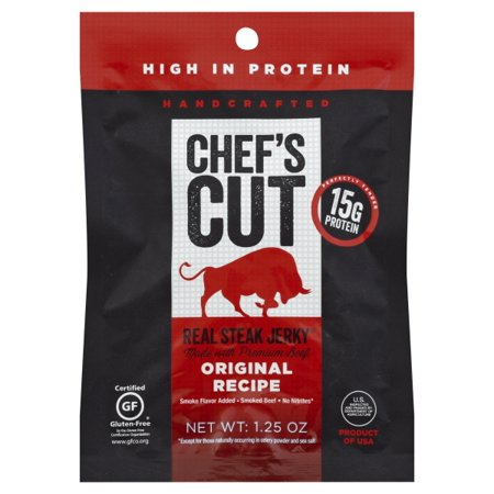 Chef's Cut Real Jerky Real Steak Jerky Original Recipe - Gluten Free (Sugar Free Jerky)