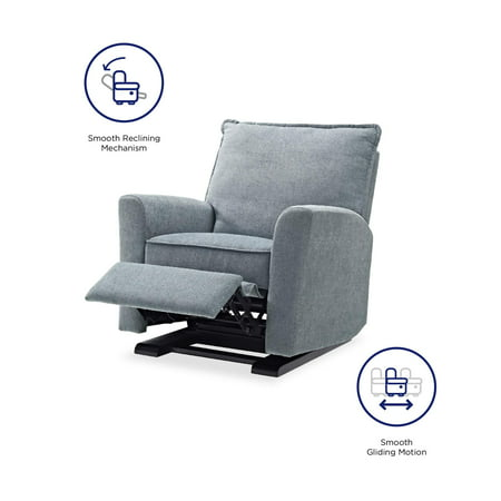 Baby Relax Raleigh Glider Recliner Chair, Gray