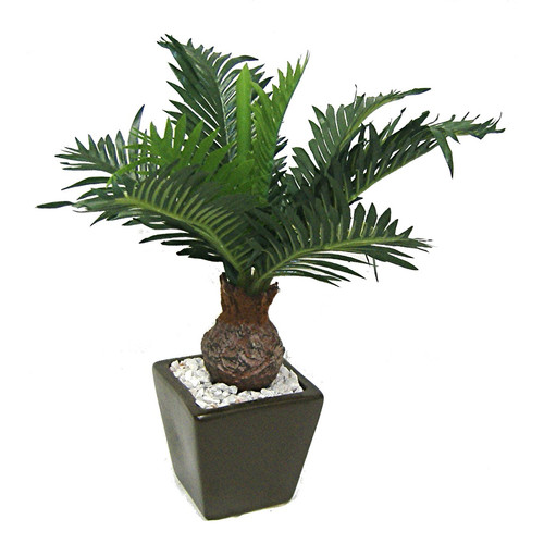 Silk Flower Depot Tall Cycas Truck Floor Plant in Pot