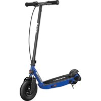 """Razor Black Label E100 Electric Scooter for Kids Age 8 and Up, 8"""" Pneumatic Front Tire, Power Core High-Torque Hub Motor, Up to 10 mph, All-Steel Frame"""