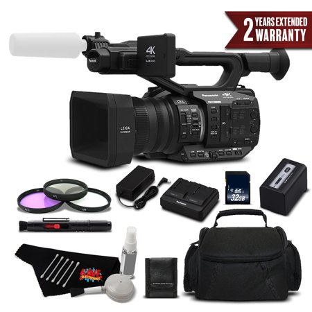 Panasonic AG-UX90 4K/HD Professional Camcorder Standard Plus Bundle - International Version (1080 Hd Professional Video Camera)