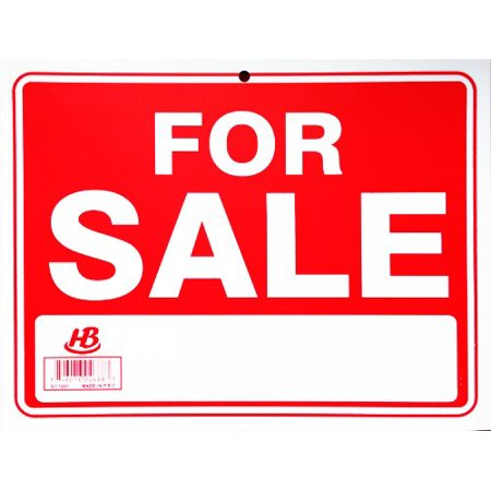 2 Sign FOR SALE Flexible Thick Plastic Business Home Office Garage Size: 9