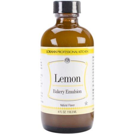 Lemon (Natural) Flavor Bakery Emulsions 4 oz - National Cake Supply