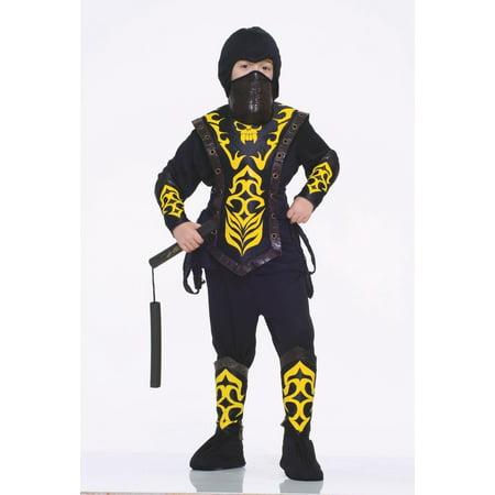Samurai Costumes For Kids (Deluxe Ninja Master Warrior Samurai Child Boys Halloween)