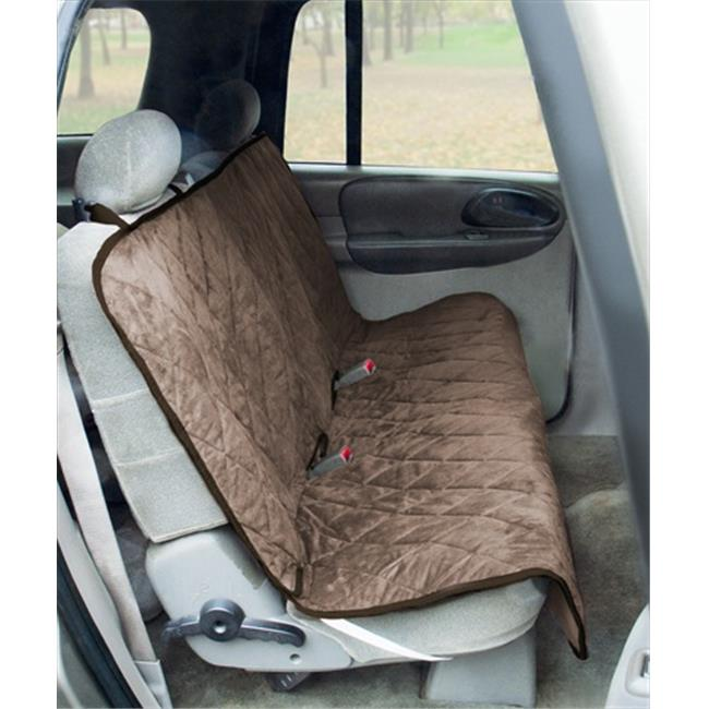 Yes Pets 59-90299TAN Quilt Suede, Waterproof, Tear Proof Bench Style Car Seat Cover - 100 Percent Polyester, Tan
