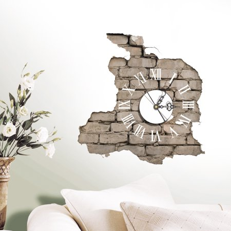 3d Clock Painting Pvc Mat Wall Art Sticker Pads Diy Stickers Home Living Home Decor Living Room Hotel
