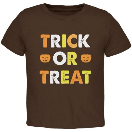 Halloween Trick Or Treat Brown Toddler T-Shirt](Halloween Drawings For Toddlers)